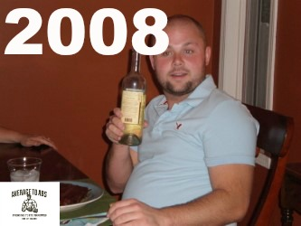 Fall of 2008. 195 Pounds.